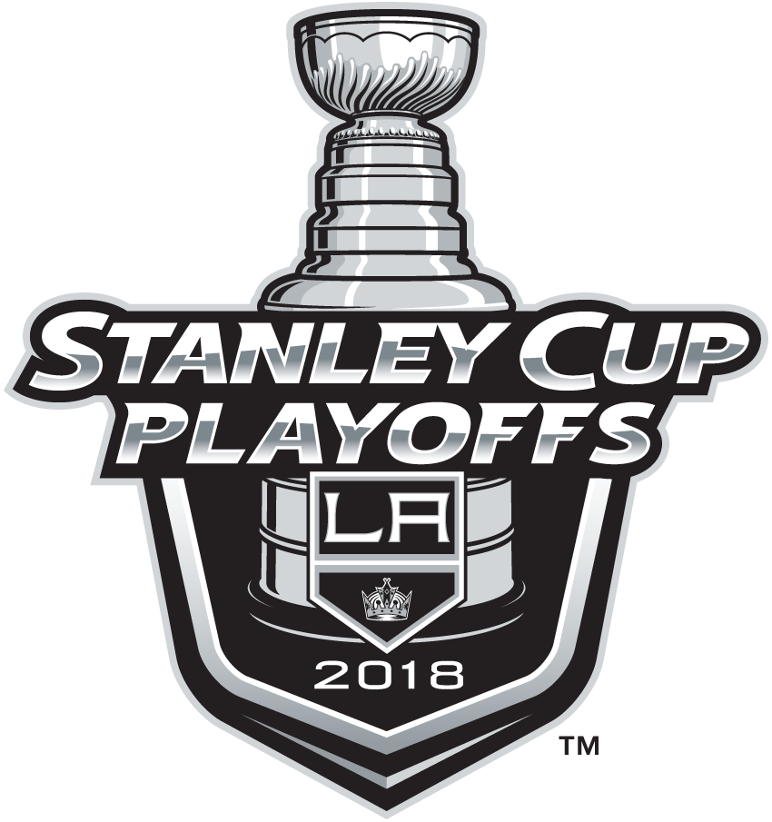 Los Angeles Kings Logo Event Logo (2017/18) - Los Angeles Kings 2018 Stanley Cup Playoffs Logo SportsLogos.Net