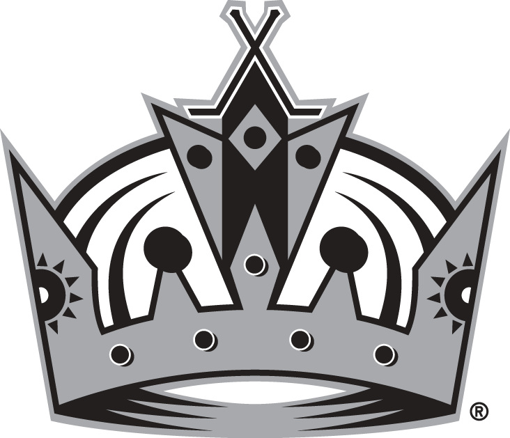 Los Angeles Kings Logo Alternate Logo (2011/12-Pres) - Black, silver and white crown with hockey sticks at the top SportsLogos.Net