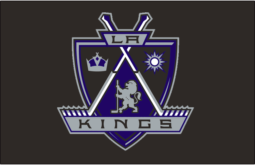 Los Angeles Kings Logo Jersey Logo (1998/99-2001/02) - Worn on the front of the Los Angeles Kings road black jersey from 1998-99 through 2001-02 SportsLogos.Net