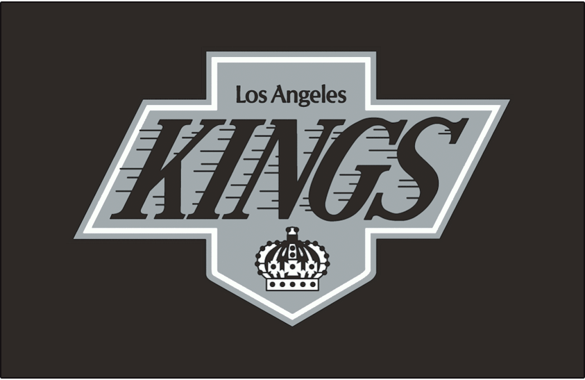 Los Angeles Kings Logo Jersey Logo (1988/89-1997/98) - Worn on the front of the Los Angeles Kings road black jersey from 1988-89 through 1997-98 SportsLogos.Net