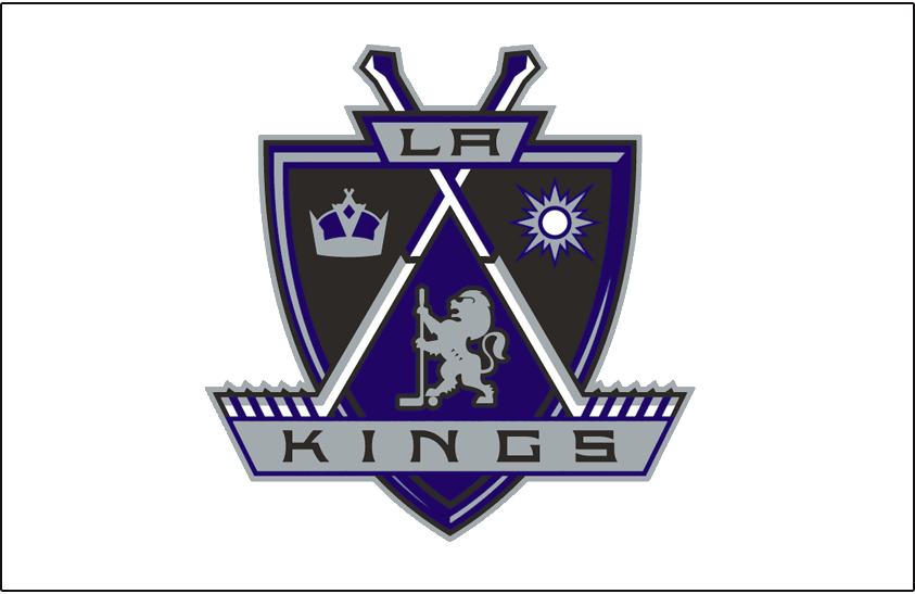 Los Angeles Kings Logo Jersey Logo (1998/99-2001/02) - Worn on the front of the Los Angeles Kings home white jersey from 1998-99 through 2001-02 SportsLogos.Net
