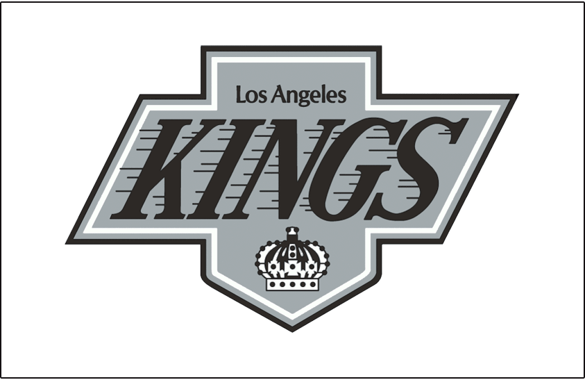 Los Angeles Kings Logo Jersey Logo (1988/89-1997/98) - Worn on the front of the Los Angeles Kings home white jersey from 1988-89 through 1997-98 SportsLogos.Net