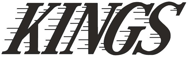 Los Angeles Kings Logo Wordmark Logo (2008/09-Pres) - KINGS italicized with black streak marks, worn on side of LA Kings helmet starting in 2008-09 season SportsLogos.Net