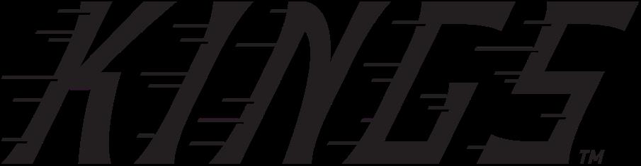 Los Angeles Kings Logo Special Event Logo (2019/20) - KINGS in black slanted with streak lines, used by the Kings as their wordmark logo for the  2020 Stadium Series in Colorado SportsLogos.Net