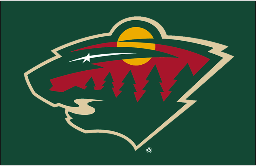 Minnesota Wild Logo Jersey Logo (2000/01-2006/07) - Worn on the front of the Minnesota Wild primary dark jersey from their inaugural season of 2000-01 until 2006-07 SportsLogos.Net