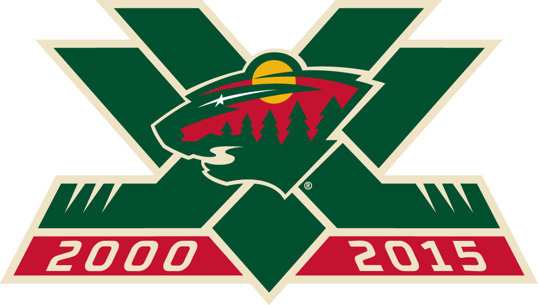Minnesota Wild Logo Anniversary Logo (2015/16) - 15th Anniversary logo SportsLogos.Net