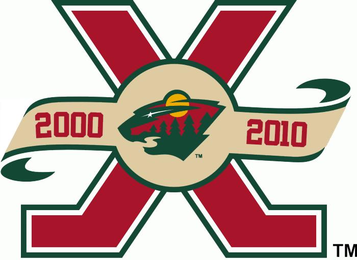 Minnesota Wild Logo Anniversary Logo (2010/11) - Minnesota Wild 10th Anniversary Logo SportsLogos.Net