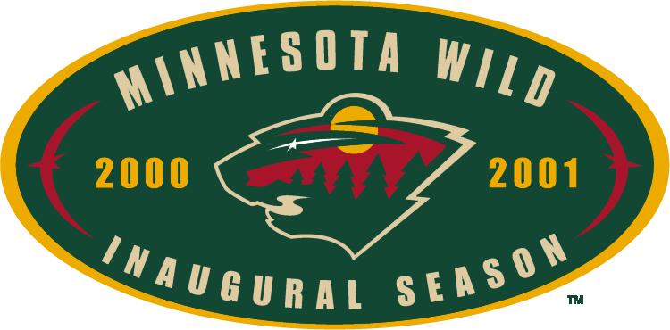 Minnesota Wild Logo Anniversary Logo (2000/01) - Minnesota Wild Inaugural Season SportsLogos.Net