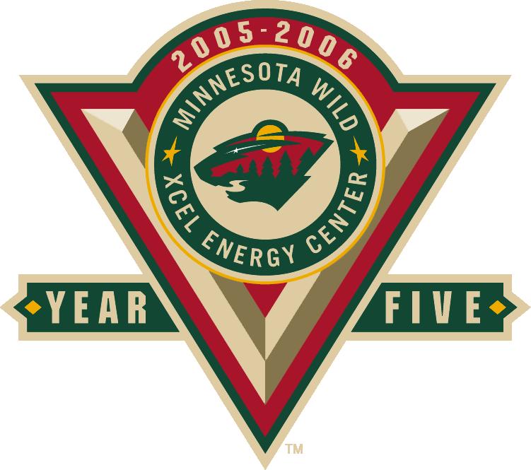 Minnesota Wild Logo Anniversary Logo (2005/06) - 5th Anniversary of the Minnesota Wild SportsLogos.Net