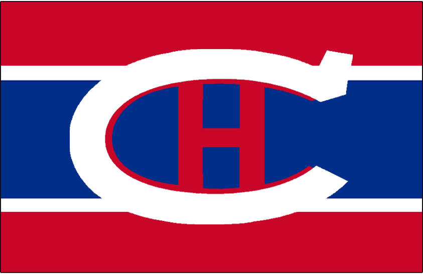Montreal Canadiens Logo Jersey Logo (1922/23-1924/25) - White C with a red H on a blue background SportsLogos.Net