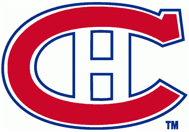 Montreal Canadiens Logo Primary Logo (1925/26-1931/32) - A red C outlined in white, and blue, with an H inside SportsLogos.Net