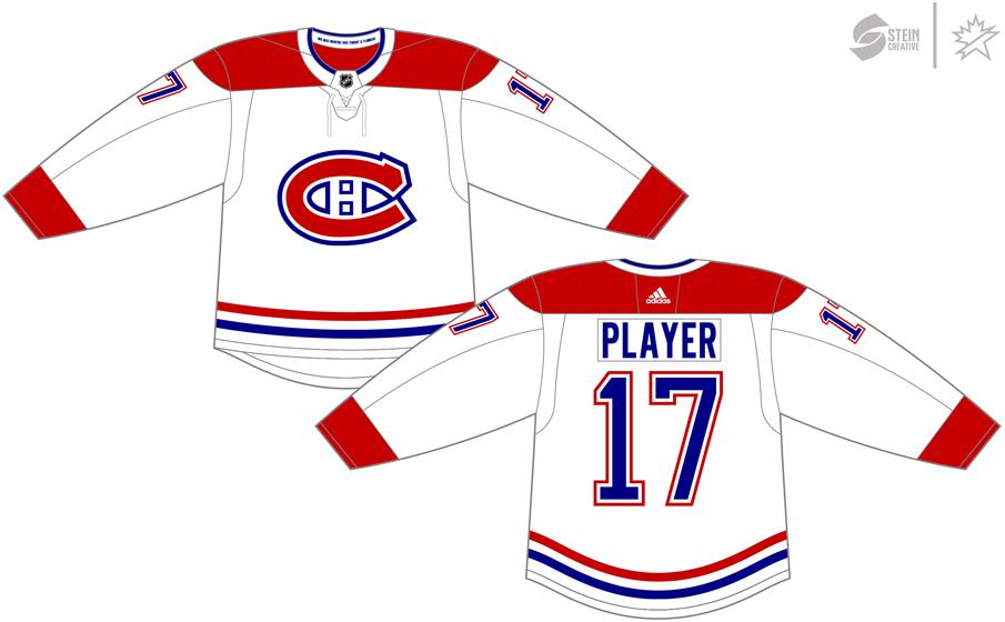Montreal Canadiens Uniform Light Uniform (2017/18-Pres) - Adidas Jersey SportsLogos.Net