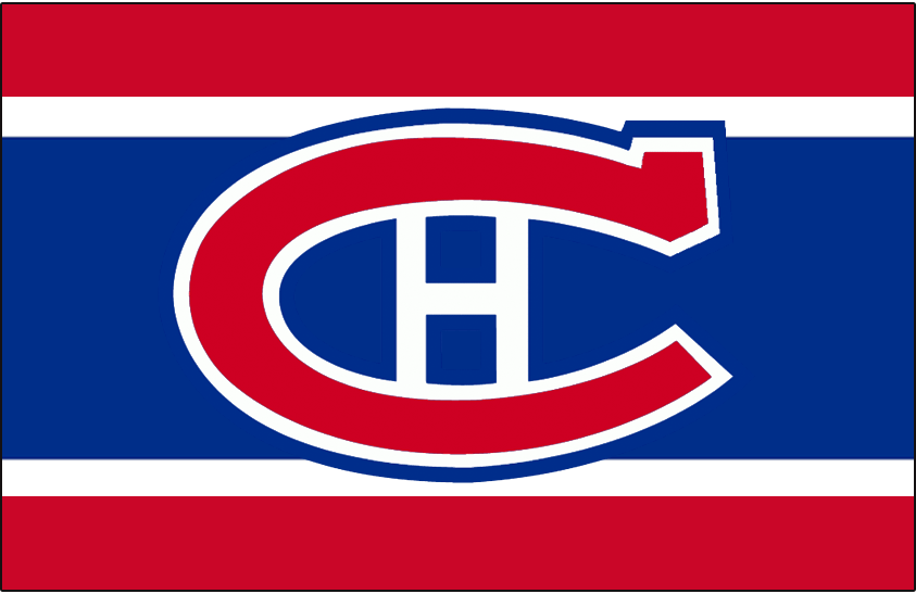 Montreal Canadiens Logo Jersey Logo (1950/51-1955/56) - Worn on front of Montreal Canadiens home red, white, and blue jersey from 1950-51 until 1955-56 SportsLogos.Net