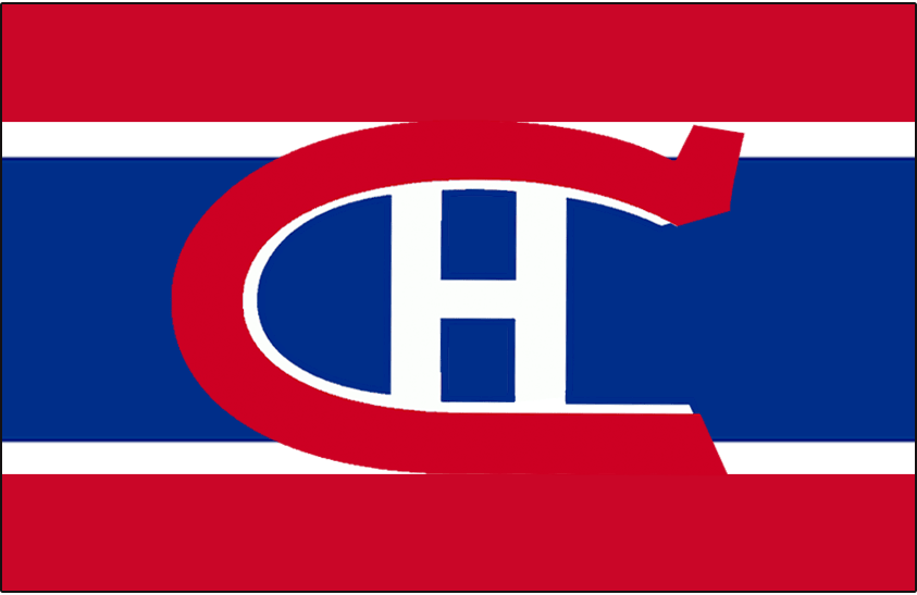 Montreal Canadiens Logo Jersey Logo (1921/22) - Worn on front of Montreal Canadiens red, white, and blue uniform in 1921-22 SportsLogos.Net