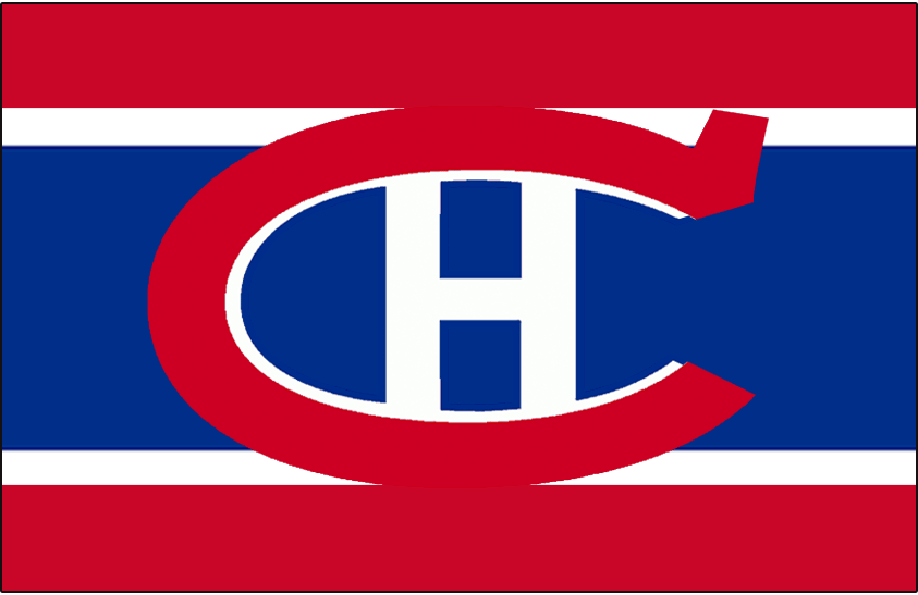 Montreal Canadiens Logo Jersey Logo (1917/18-1918/19) - Worn on front of Montreal Canadiens red, white, and blue uniform from 1917-18 until 1918-19 - their first two seasons in the NHL SportsLogos.Net