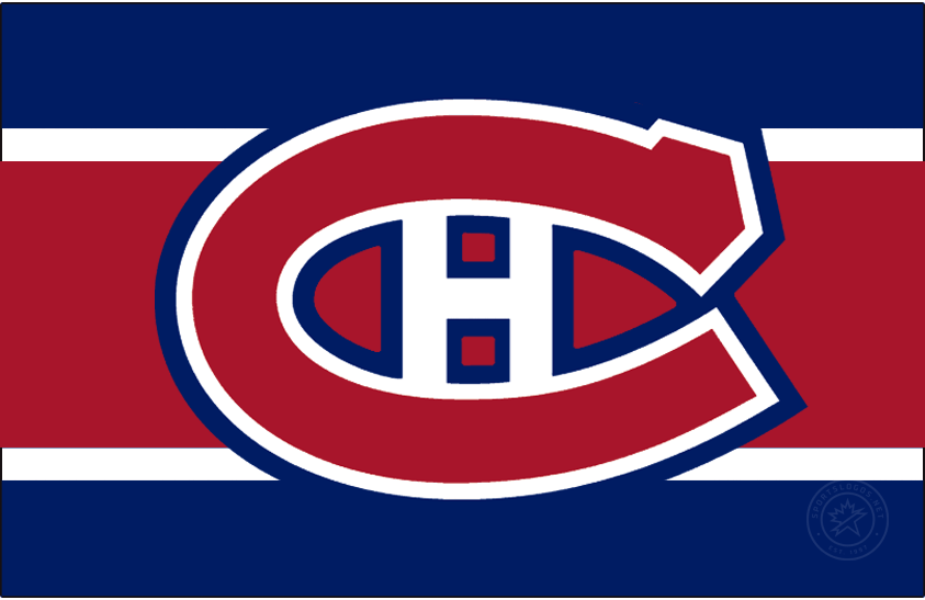 Montreal Canadiens Logo Jersey Logo (2020/21-Pres) - The Montreal Canadiens Reverse Retro logo, a throwback to the 1978 season with with their usual home red jersey now recoloured to feature blue as the base colour and red as the stripe. SportsLogos.Net