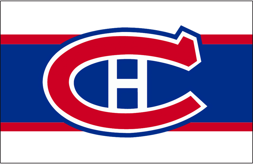 Montreal Canadiens Logo Jersey Logo (1944/45-1946/47) - Worn on front of Montreal Canadiens road white, red, and blue jersey from 1944-45 until 1946-47 SportsLogos.Net