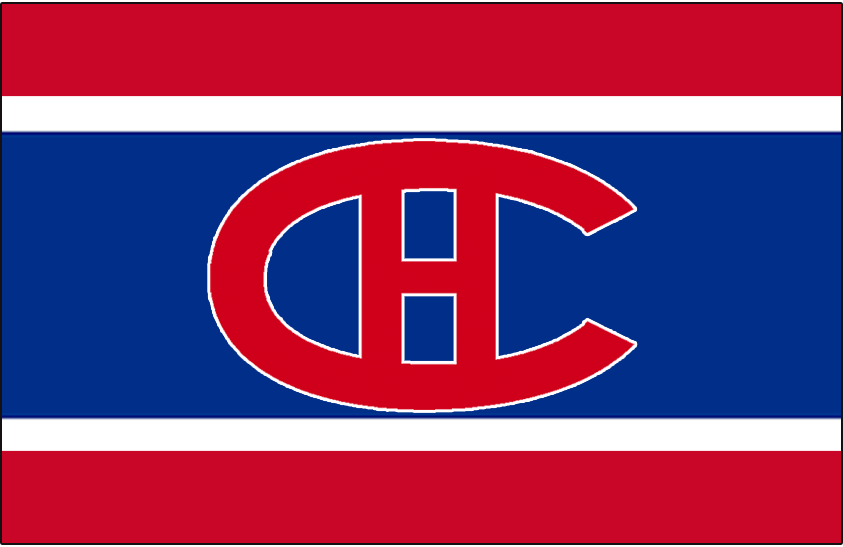 Montreal Canadiens Logo Jersey Logo (1919/20-1920/21) - Worn on front of Montreal Canadiens red, white, and blue uniform from 1919-20 until 1920-21 SportsLogos.Net
