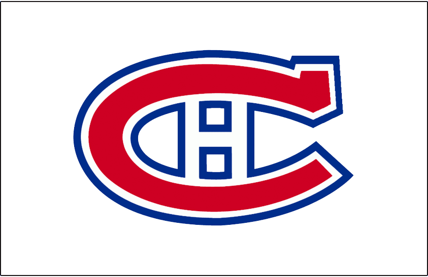 Montreal Canadiens Logo Jersey Logo (1947/48-1955/56) - Worn on front of Montreal Canadiens road white from 1947-48 until 1955-56 SportsLogos.Net