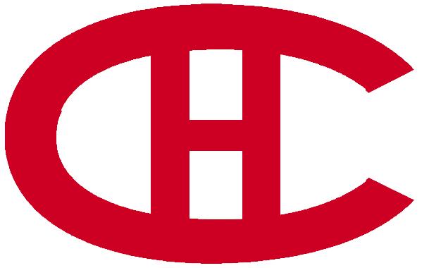 Montreal Canadiens Logo Primary Logo (1919/20-1920/21) - Red C H SportsLogos.Net