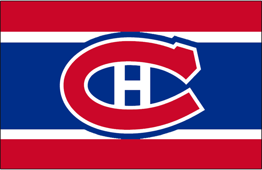 Montreal Canadiens Logo Jersey Logo (1956/57-1957/58) - Worn on front of Montreal Canadiens red, white, and blue home jersey in 1956-57 and 1957-58 seasons SportsLogos.Net