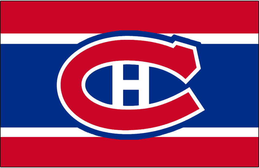 Montreal Canadiens Logo Jersey Logo (1958/59) - Worn on front of Montreal Canadiens red, white, and blue road jersey in 1958-59 SportsLogos.Net