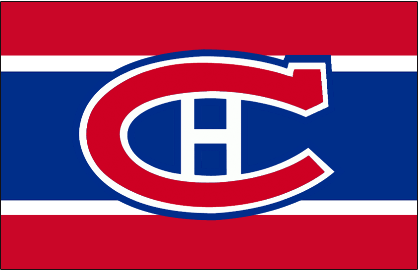 Montreal Canadiens Logo Jersey Logo (1947/48-1949/50) - Worn on front of Montreal Canadiens home red, white, and blue jersey from 1947-48 until 1949-50 SportsLogos.Net