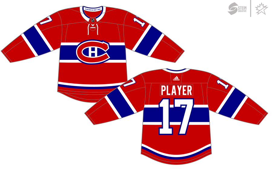 Montreal Canadiens Uniform Dark Uniform (2017/18-Pres) - Adidas Jersey SportsLogos.Net