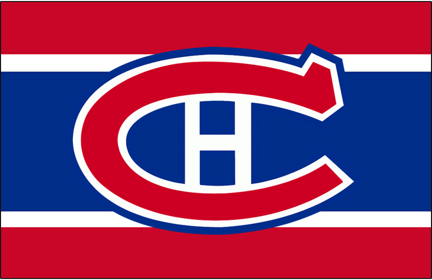 Montreal Canadiens Logo Jersey Logo (1935/36-1946/47) - Worn on front of Montreal Canadiens home red, white, and blue jersey from 1935-36 until 1946-47 SportsLogos.Net