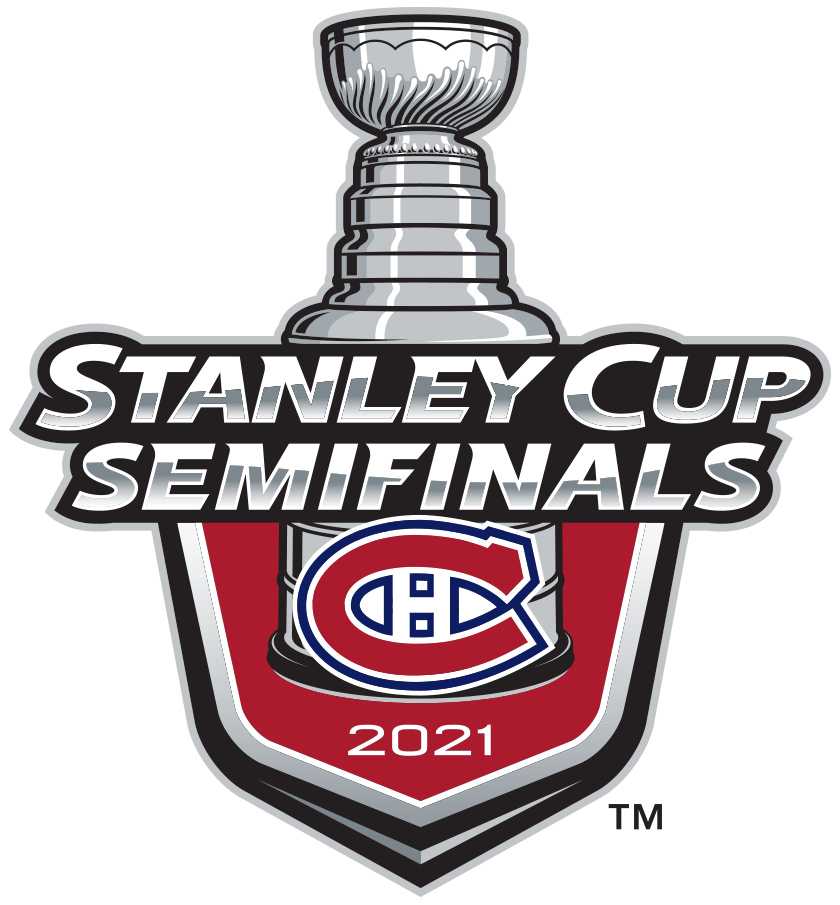 Montreal Canadiens Logo Event Logo (2020/21) - The Montreal Canadiens 2021 Stanley Cup Semi Finals logo, commemorating the Canadiens advancement to the third round of the 2021 Stanley Cup Playoffs. Typically this would have been a berth in the Conference Finals but there were no conferences this season due to COVID-19 divisional realignment within the NHL. SportsLogos.Net