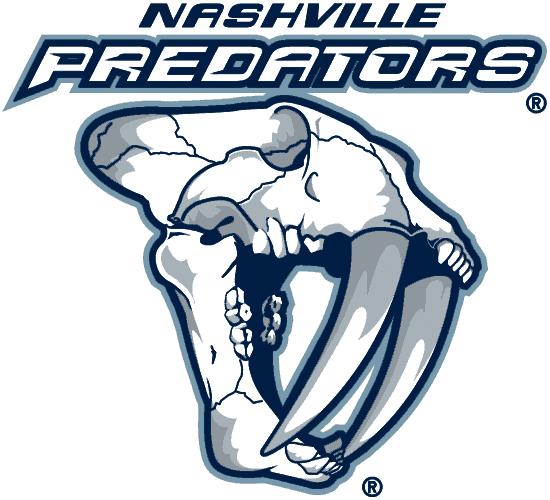 Nashville Predators Logo Alternate Logo (2001/02-2010/11) - A fossilized sabre-toothed tiger head. SportsLogos.Net
