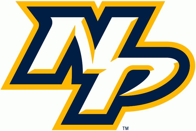 Nashville Predators Logo Alternate Logo (2011/12-Pres) - NP in white, blue and yellow SportsLogos.Net
