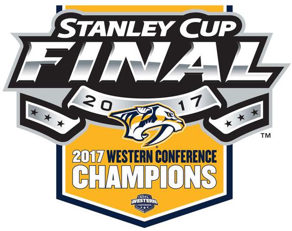 Nashville Predators Logo Champion Logo (2016/17) - 2017 Western Conference Champions logto SportsLogos.Net