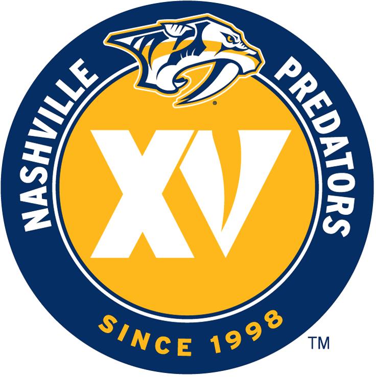 Nashville Predators Logo Anniversary Logo (2013/14) - 15th Anniversary logo SportsLogos.Net