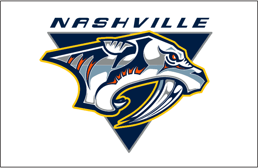 Nashville Predators Logo Jersey Logo (2007/08-2010/11) - Worn on Nashville Predators road white uniform from 2007-08 until 2010-11 SportsLogos.Net