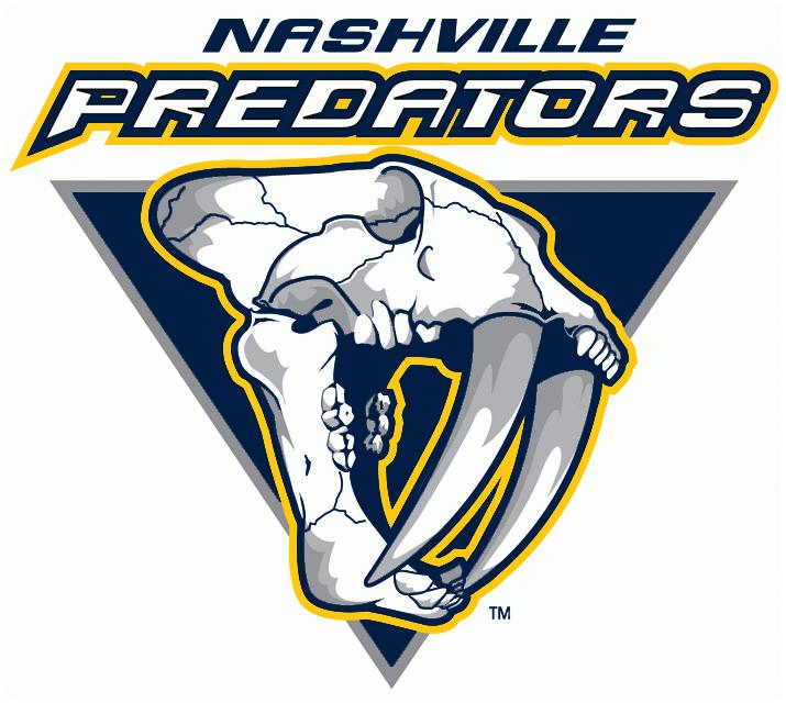 Nashville Predators Logo Alternate Logo (1998/99-2010/11) -  SportsLogos.Net