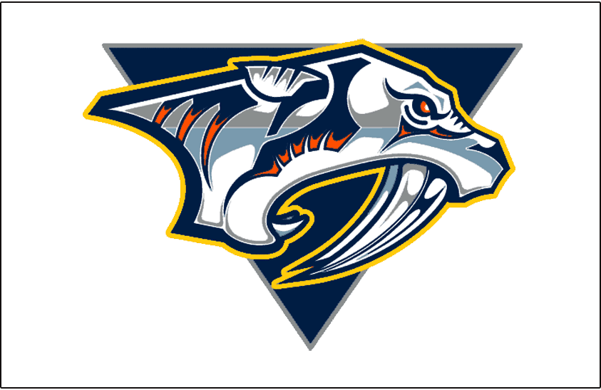 Nashville Predators Logo Jersey Logo (1998/99-2006/07) - Worn on Nashville Predators light uniform from 1998-99 inaugural season until 2006-07 SportsLogos.Net