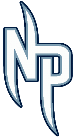 Nashville Predators Logo Alternate Logo (2009/10-2010/11) - NP in white and silver - worn on the pants of the Nashville Predators alternate uniform SportsLogos.Net