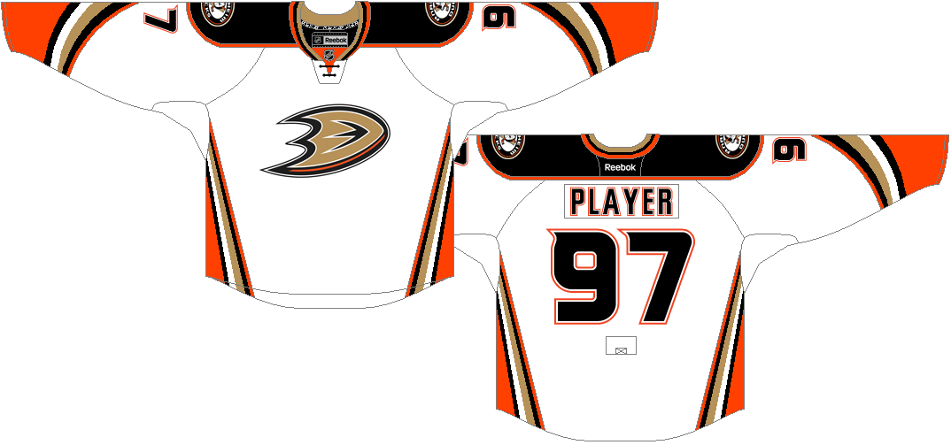 Anaheim Ducks Uniform Light Uniform (2014/15-2016/17) -  SportsLogos.Net