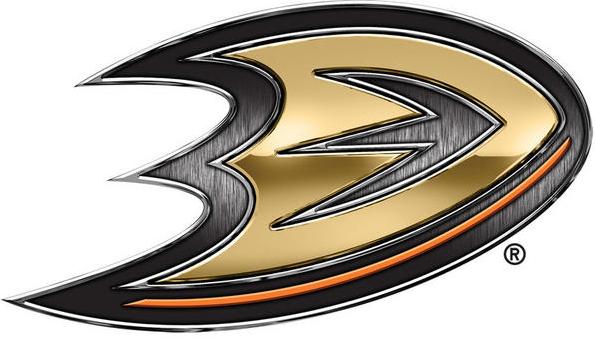 Anaheim Ducks Logo Special Event Logo (2013/14) - Ducks Stadium Series chrome treated logo SportsLogos.Net
