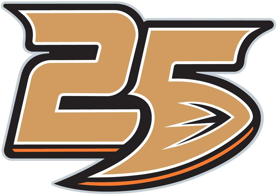 Anaheim Ducks Logo Anniversary Logo (2018/19) - Anaheim Ducks 25th anniversary logo SportsLogos.Net