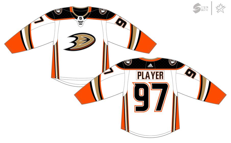 Anaheim Ducks Uniform Light Uniform (2017/18-Pres) - Adidas Jersey SportsLogos.Net