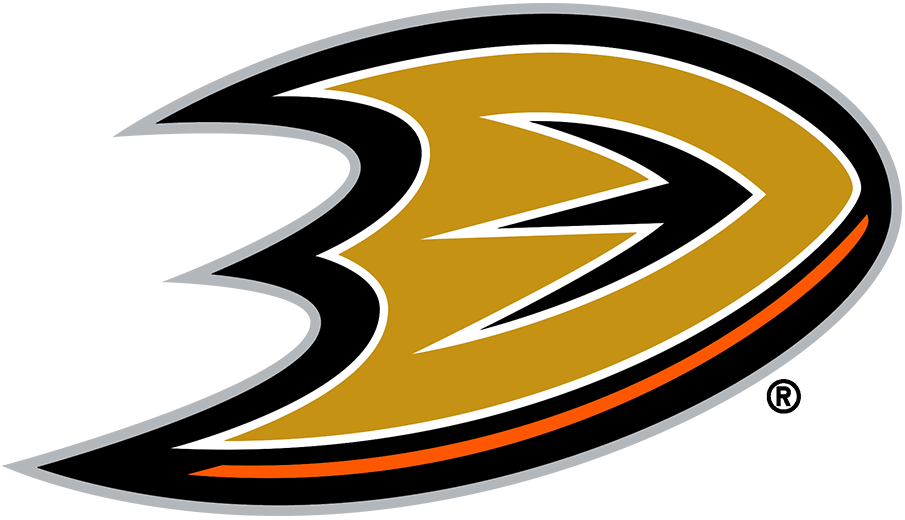 Anaheim Ducks Logo Alternate Logo (2006/07-2009/10) - Taking a portion of the Ducks primary logo of the time, this alternate mark focused only on the
