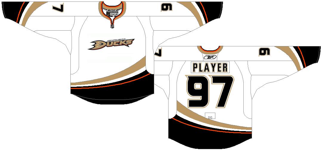 Anaheim Ducks Uniform Light Uniform (2007/08-2013/14) -  SportsLogos.Net