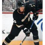 Anaheim Ducks (2009) Corey Perry wearing Anaheim Ducks home black uniform during 2008-09 season
