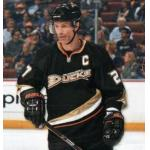 Anaheim Ducks (2010) Scott Nidermayer wearing Anaheim Ducks home black uniform during 2009/10 season