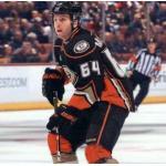 Anaheim Ducks (2011) Brandon McMillan wearing Anaheim Ducks alternate uniform during 2010/11 season
