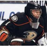 Anaheim Ducks (2011) Jonas Hiller wearing Anaheim Ducks alternate black uniform during 2011/12 season