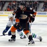 Anaheim Ducks (2013) Kyle Palmieri wearing Anaheim Ducks alternate uniform during 2012/13 season
