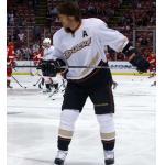 Anaheim Ducks (2013) Teemu Selanne wearing Anaheim Ducks road white during 2012/13 season